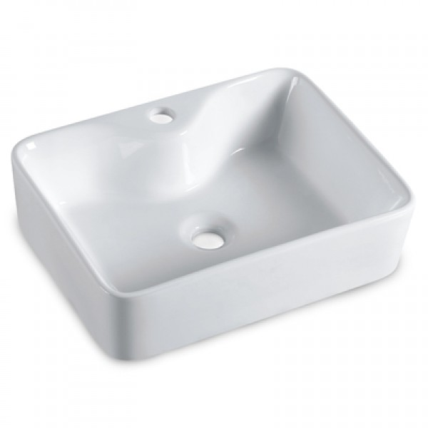 "Rectangle (19 1/4"" x 15"") Porcelain Vessel Sink"